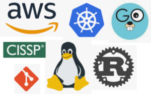 AWS Kubernetes Go CISSP git Linux Rust